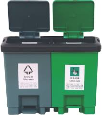 kitchen cabinet recycle bins plastic twin waste bin plastic twin waste bin suppliers and