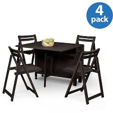 drop leaf table with folding chairs stored inside innovative folding table with chairs stored inside linon home