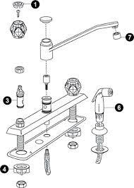 Repair Kit For Moen Kitchen Faucet with Moen Kitchen Faucet Single Handle Adaptor Repair Kit Room Image