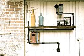Industrial Pipe Bookcase The Hip Subscription Industrial Pipe Shelf
