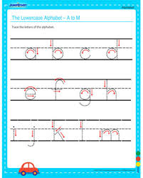 the lowercase alphabet u2013 a to m u2013 alphabet worksheets for kids