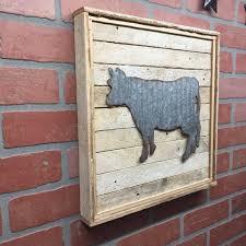 cow kitchen cow metal cow galvanized cow cow decor