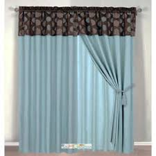 Blue And Brown Curtains Slate Blue Window Curtains