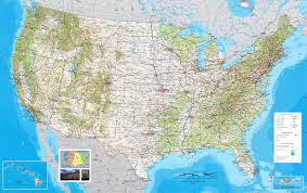 Map United States by States Counties Road Map Usa