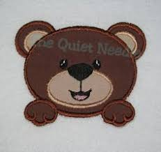 embroidered thanksgiving football applique iron by thequietneedle