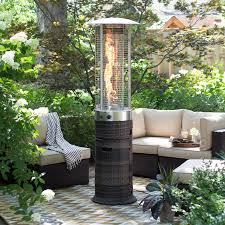 Living Flame Patio Heater by Red Ember Glass Tube Commercial Stainless Steel Patio Heater With