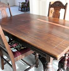 Chippendale Dining Room Set Tudor Style Wood Carved Dining Room Table U0026 Chairs Ebth