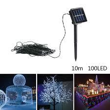 solar power led lights 100 bulb string 10m solar powered 100 led lighting string fairy light for party