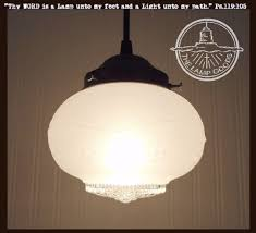 milk glass pendant lights milk glass schoolhouse lighting