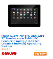 walmart android tablet walmart value of the day iview touchscreen tablet pc