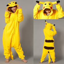 pajamas pikachu halloween costume yellow onesie wheretoget