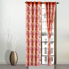 Fuchsia Pink Curtains Buy Living Essence Curtain Rio Patchwork Fuchsia Online In India