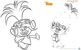 trolls movie activity sheets free printables colouring pages