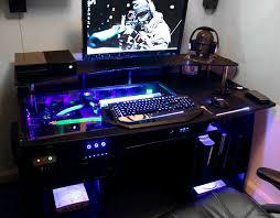 Custom Desk Plans Decoration Remarkable Ultimate Gaming Custom Desk Build Log