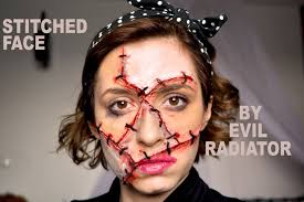 stitches stitched up face sfx halloween makeup tutorial youtube