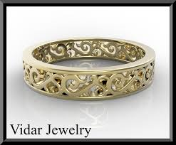 gold womens wedding band women s wedding band yellow gold vidar jewelry unique custom
