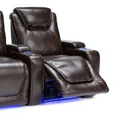 home theater chair seatcraft equinox leather home theater seating power row of 3 ebay