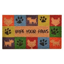 Coir Doormat Wipe Your Paws Hometrax Wipe Your Paws Doormat 18