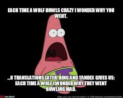 Crazy Wolf Meme - each time a wolf i wonder why they went howling mad meme by