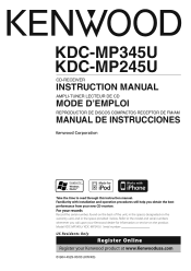 kenwood kdc mp345u manual