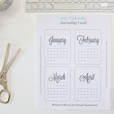 2017 monthly journaling cards printable strange charmed