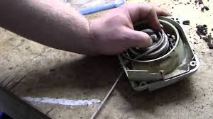 stihl ms260c recoil starter repair 2 2 youtube