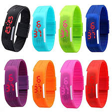 silicone bracelet watches images Cdybox men women kids digital wristwatch touch screen jpg