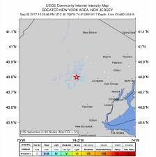 Earthquake Map Usgs Earthquake Reported In Greater Morristown Morristown Green