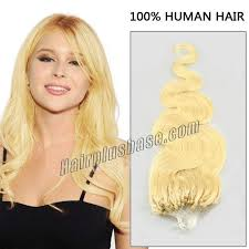 hairstyles with body wave hairnfor 60 inch 60 white blonde soft body wave micro loop hair extensions 100