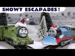 thomas train christmas prank toy accident story carols tom