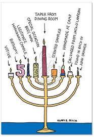 menorah candles menorah candles hanukkah card hilary b price