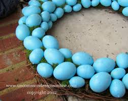 blue easter eggs robin s egg blue easter wreath easter decorating idea