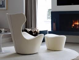 modern armchair with ottoman iconic lounge chairs with footstools