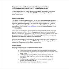 construction proposal templates u2013 15 free sample example format