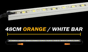 orange led light bar 48cm orange white led light bar hard korr australia