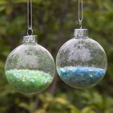 with lid fillable clear glass bauble6 8cm tree