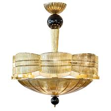 Gold And Black Murano Glass Chandelier Jean Marc Fray