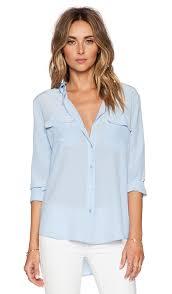 periwinkle blouse equipment slim signature blouse in periwinkle blue revolve