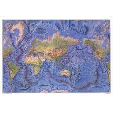 Ocean Maps 1981 World Ocean Floor Map National Geographic Store
