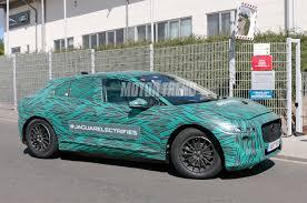 maserati camo spied jaguar i pace ev flaunts curves in flamboyant camo motor