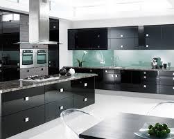 furniture black modern kitchen cabinets with black granite