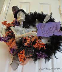 crafty in crosby grandinroad halloween wreath knock off