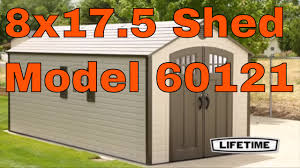 lifetime 60121 8 x 17 5 ft outdoor storage shed 2 windows youtube