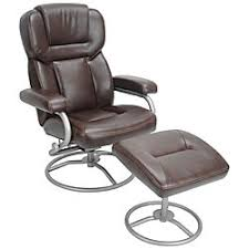 Recliner With Ottoman True Innovations High Back Recliner With Ottoman 35 14 H X 30 W X