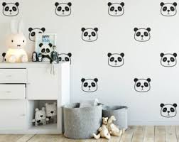 Wall Decals Kids Rooms by Panda Wall Decal Etsy