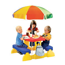 qwikfold picnic table with umbrella new ebay