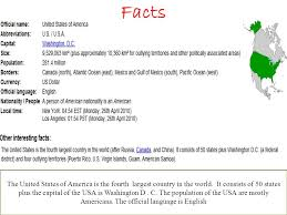 the usa facts the united states of america is the fourth largest