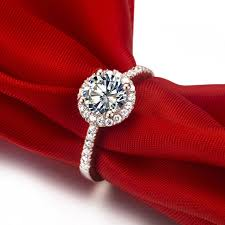 wedding ring test gorgeous halo style 1ct certificate moissanite women ring test