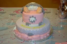 My Baby Shower Cake Pink U0026 Gray Elephant Theme Yelp