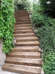 bloc marche escalier exterieur escalier rustique bois u0026 paves pascal jacquat paysagiste sarl